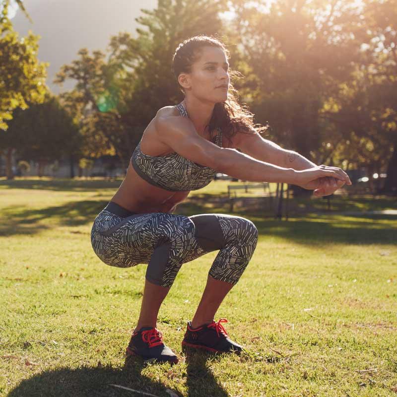 Lady Exercising Alone