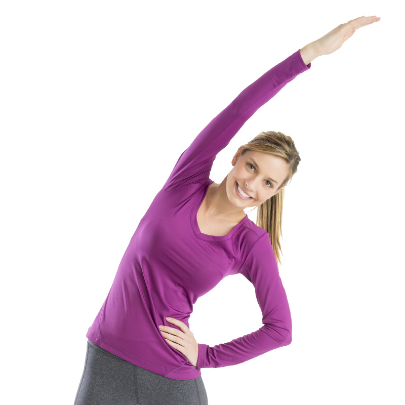 Lady Doing A Stretching Exercise