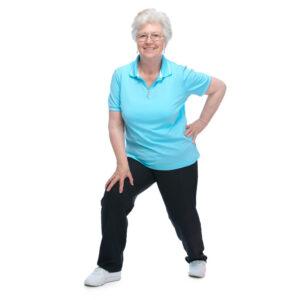 A Senior Citizen Exercising